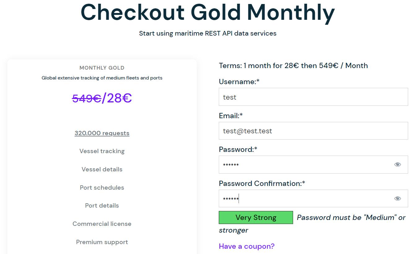 Checkout Datalastic Gold API Plan