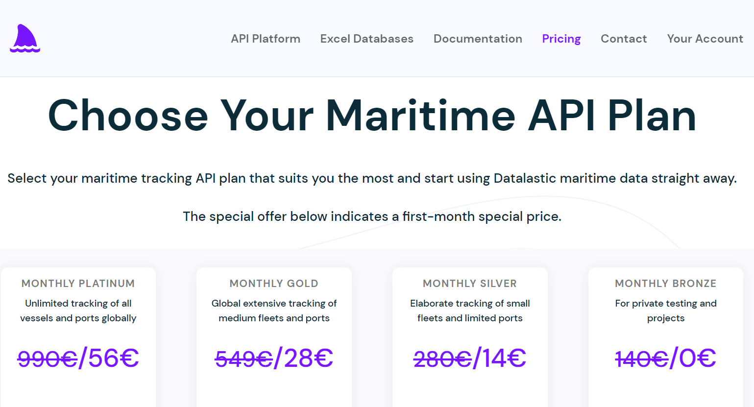 Choose your Maritime API Subscription Plan