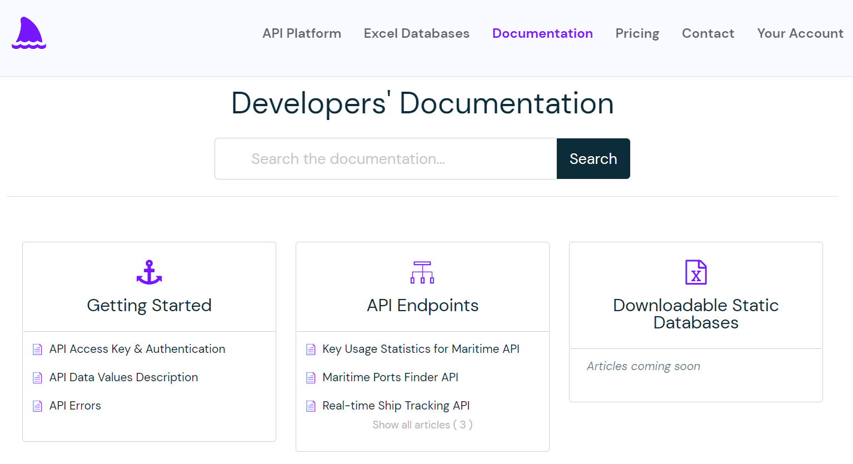 Developers Documentation to maritime API