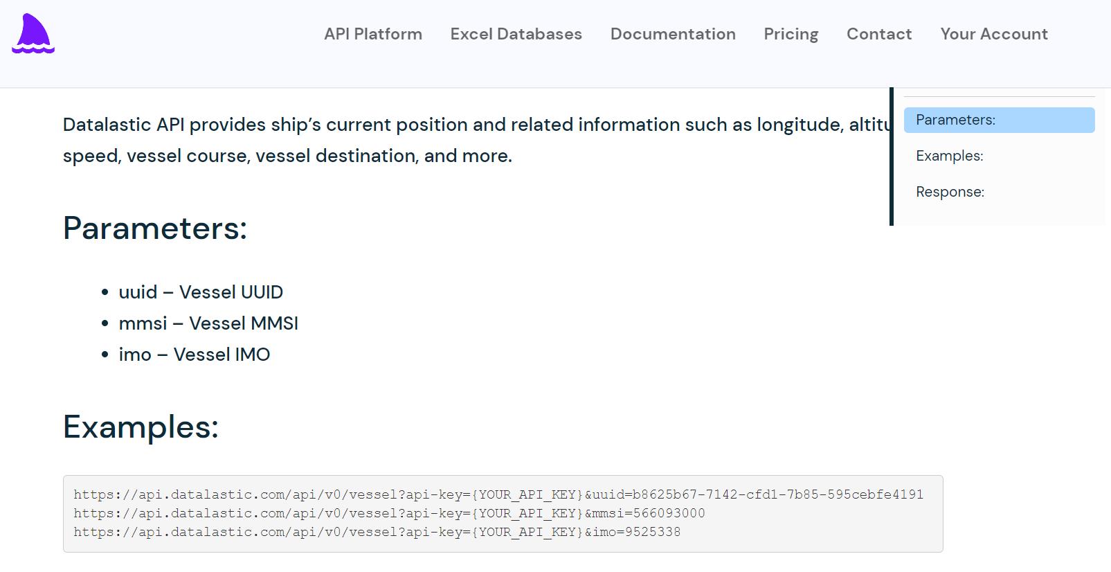 Real-Time Ship Tracking API Example